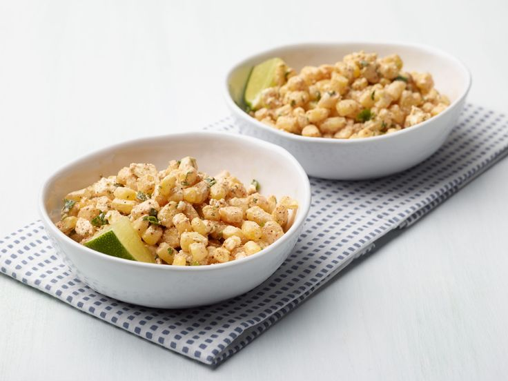 Side Dish:Esquites : For an easy take on this Mexican street food snack, combine cooked corn with a couple of spoonfuls of Mexican crema or mayo, some chili powder, and crumbled feta or Cotija (even grated Parm works). Serve with lime wedges and something green like cilantro or parsley if you've got it.