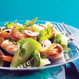 Vietnamese Shrimp and Green Melon Salad Recipe | MyRecipes.com