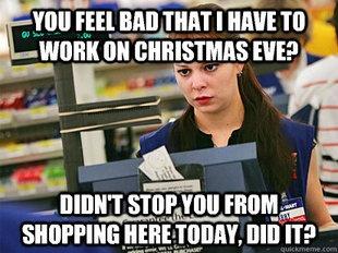 Customers on holidays