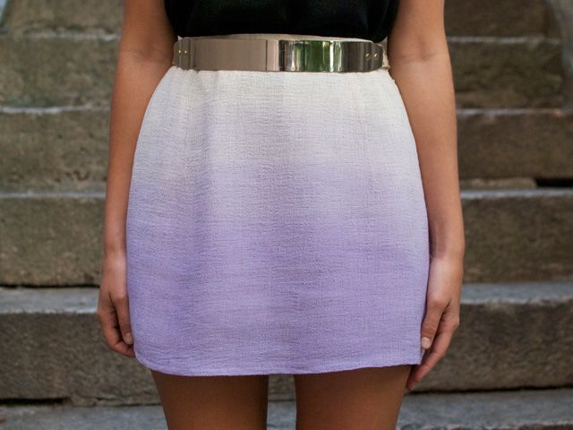 a pair & a spare | DIY dip dyed ombre mini