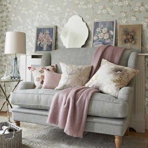 Feminine Sitting Room | Rooms To Love: Cool Pastels