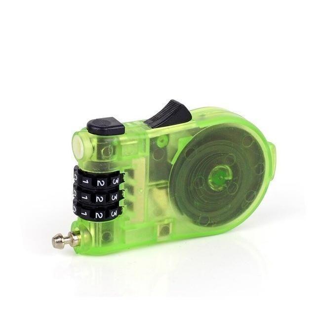 Portable Retractable Bicycle Combination Steel Code Lock Safety 3 Digit Padlock