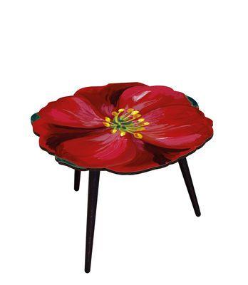 Scopri Tavolino Hibiscus -/ Ø 61 x H 45 cm, Ibisco / Rosso di BAZAR THERAPY disponibile su Made In Design Italia il miglior sito online di design.