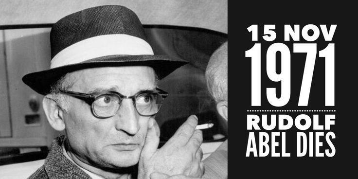 15 November 1971. Soviet intelligence officer Rudolf Abel dies of lung cancer
