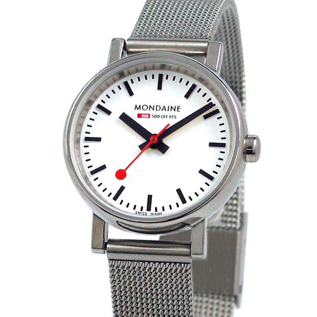 Evo Quartz Ladies (white/silver) watch by Mondaine. Available at Dezeen Watch Store: www.dezeenwatchstore.com