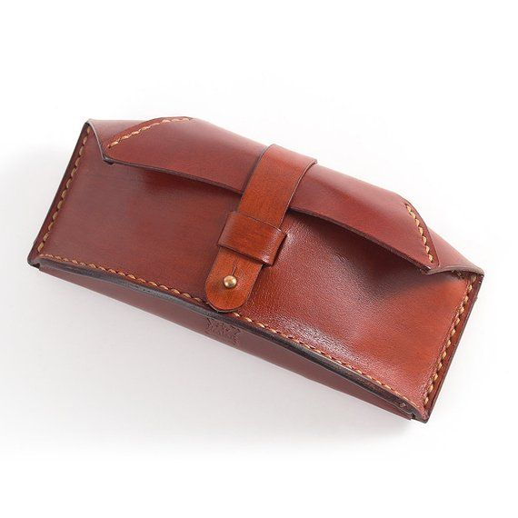 Cow Leather Hand Stitched Wallet Case