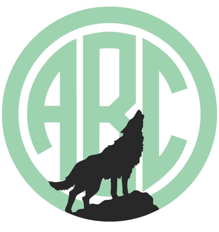 Howling Wolf Custom Circle Monogram By Modifydesigns On