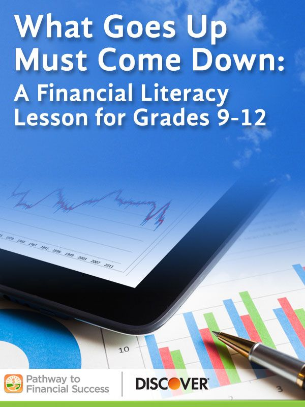 What Goes Up Must Comes Down: Introductory lesson about the stock market for high school students #pathwaytofinancialsuccess #discover #weareteachers