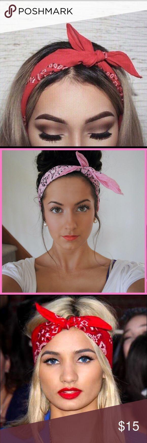 Bandana headband Bandana-Stirnband Rotes Ba…