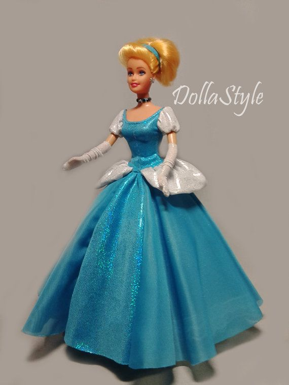 Barbie Clothes. Barbie Doll Dress Cinderella. Doll by DollaStyle