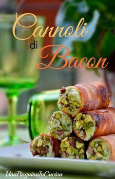 Una Pinguina in Cucina: Finger Food... Cannoli di bacon croccante