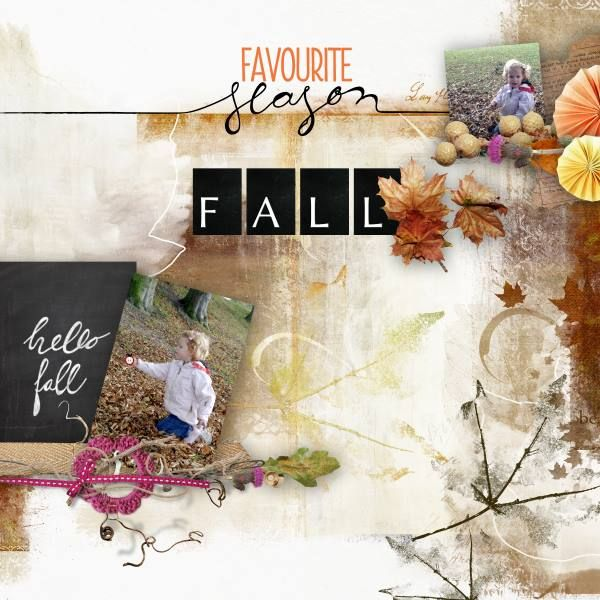 Hello Fall - The NEW fabulous Hello Fall Bundle By Natali @ Scrapbookgraphics.