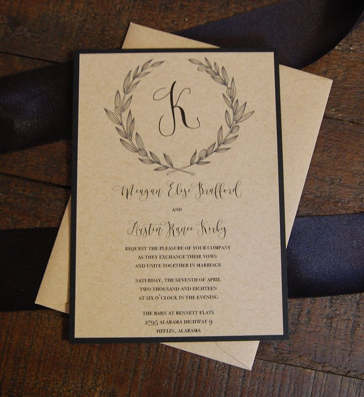 Best 25+ Kraft wedding invitations ideas on Pinterest | Rustic ...