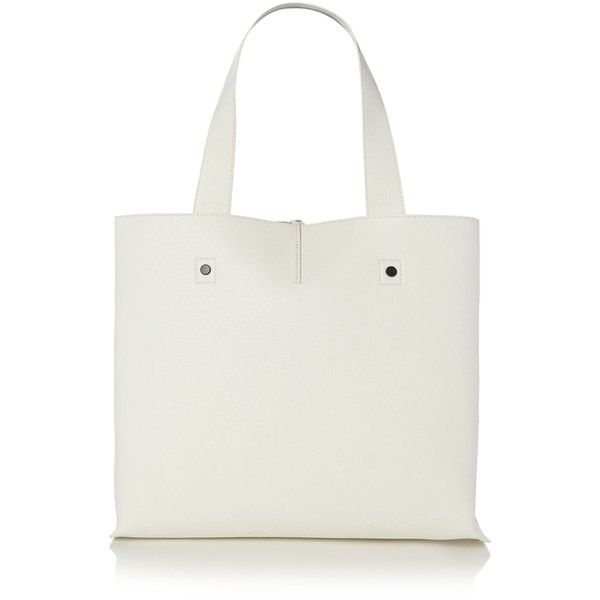 Calvin Klein Stef white and silver reversible tote bag (390 PEN) ❤ liked on Polyvore featuring bags, handbags, tote bags, tote purses, silver handbags, white tote bag, calvin klein purse and calvin klein tote