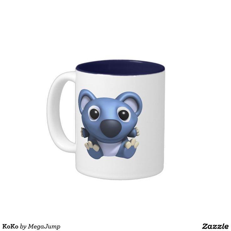 KoKo Two-Tone Coffee Mug. Regalos, Gifts. Producto disponible en tienda Zazzle. Tazón, desayuno, té, café. Product available in Zazzle store. Bowl, breakfast, tea, coffee. #taza #mug