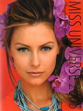 Jennifer Hawkins Miss Universe 2004 cover of 2005 Miss Universe Pageant Program Book