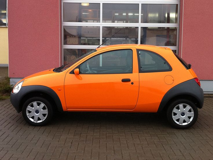 Ford Ka (orange with black bumpers)