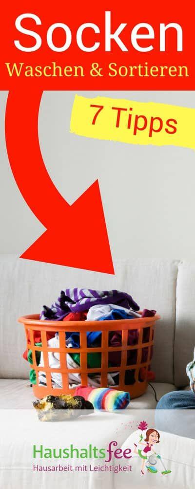 Socken waschen und sortieren – 5+1 Tipps gegen das Chaos | Haushaltsfee – Hausarbeit mit Leichtigkeit ❤️ Putzplan, Checklisten & Reiniger