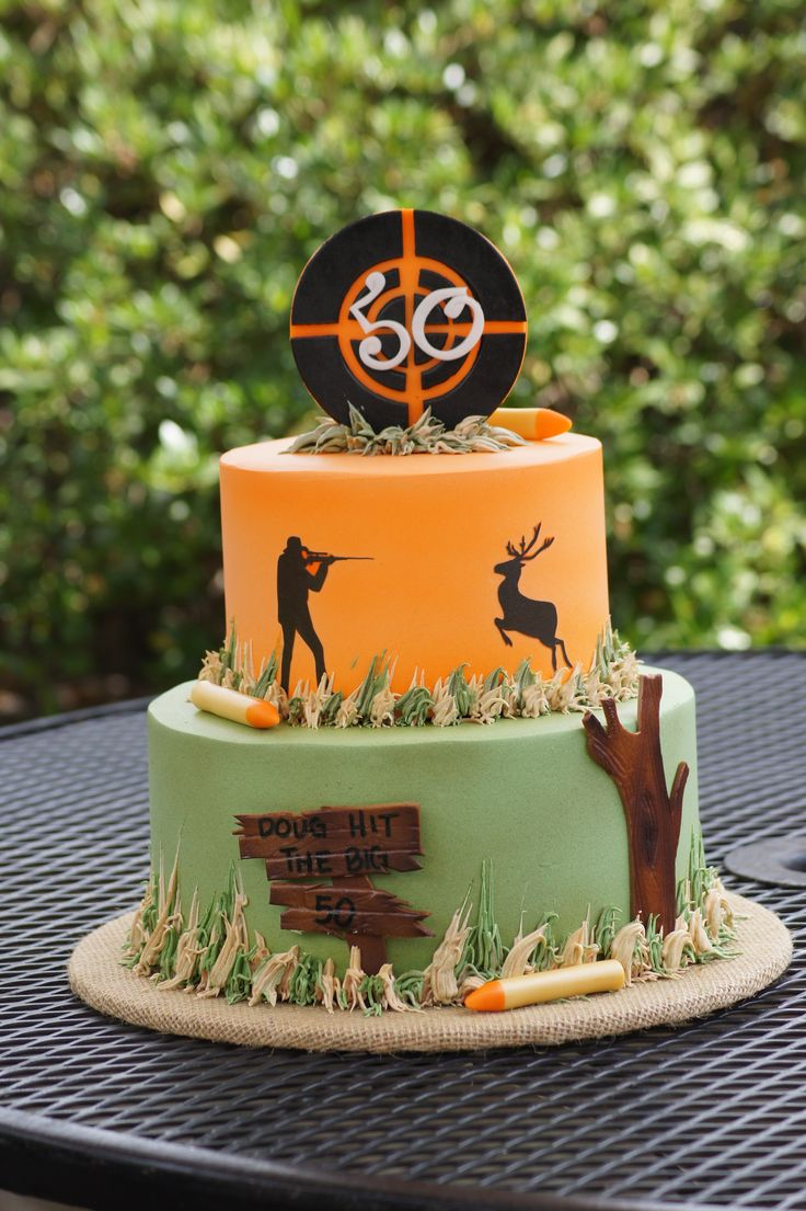 In law in addition free pink birthday cake in addition bake shop party - Tiered Hunting Themed Birthday Cake