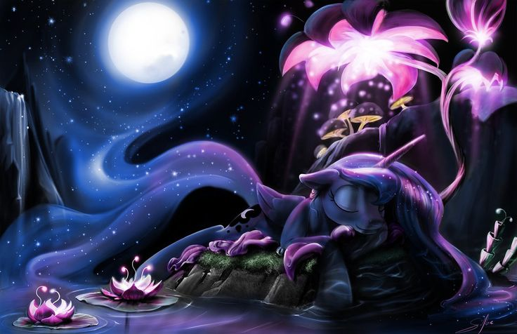 Nightmare Star first appeared on a My Little Pony Absolute Discord CCG Card. So far that's the only time we've spotted her. She's the evil form of Princess Celestia similar to Nig...