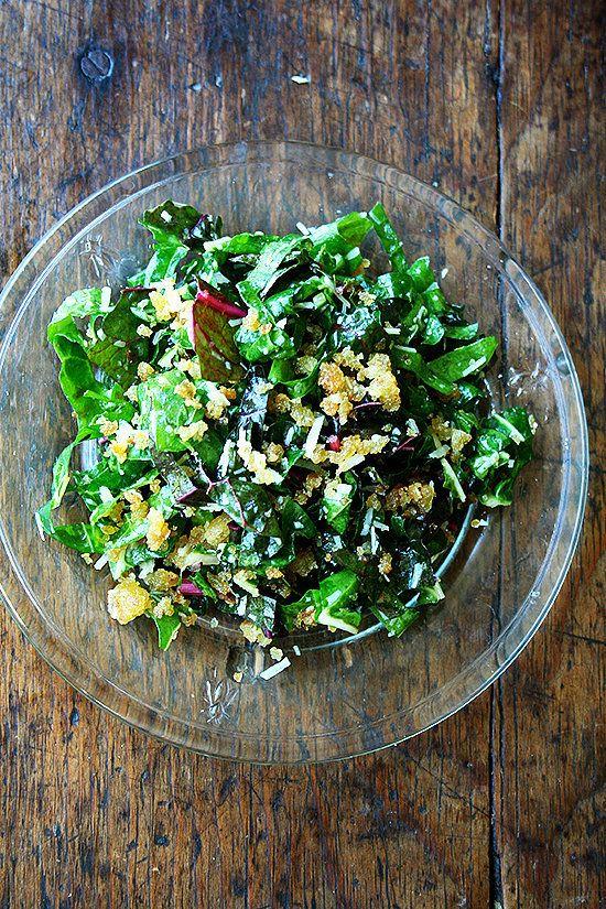 Swiss Chard Salad with Lemon, Garlic, and Parmesan