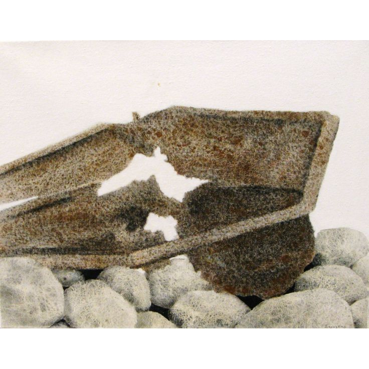 """Σωτήρης Σόρογκας (1936) Σκουριές"""". Υπογεγραμμένο (κάτω δεξιά). Ακρυλικό σε μουσαμά. Διαστάσεις: 35 X 45 εκ."""
