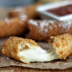 Wonton Wrapped Mozzarella Sticks.