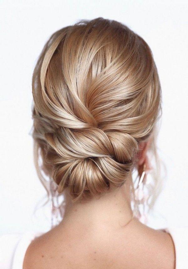 20 Trendy Low Bun Wedding Updos And Hairstyles Hair Styles Sleek Updo Hairstyle