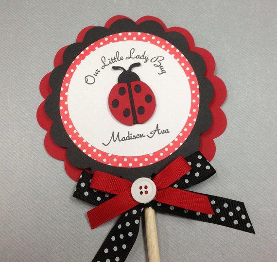 Handmade Red & Black LadyBugs Centerpieces by forLittleSmiles