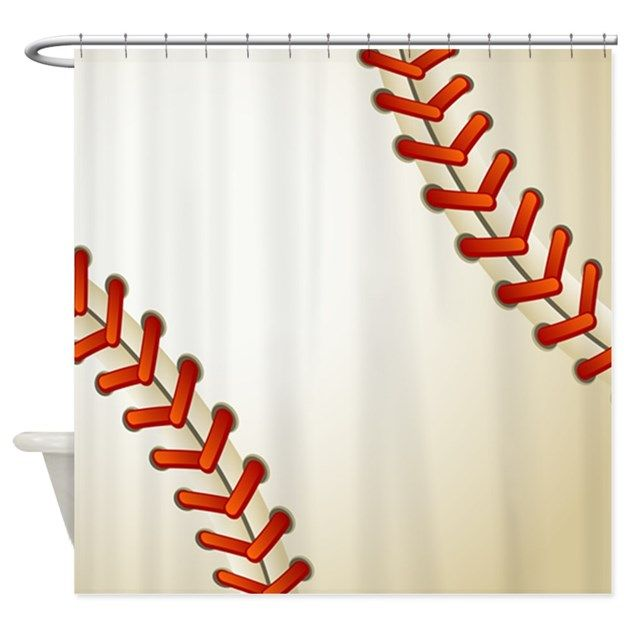 Baseball Ball Shower Curtain By Wickeddesigns1 Baseball