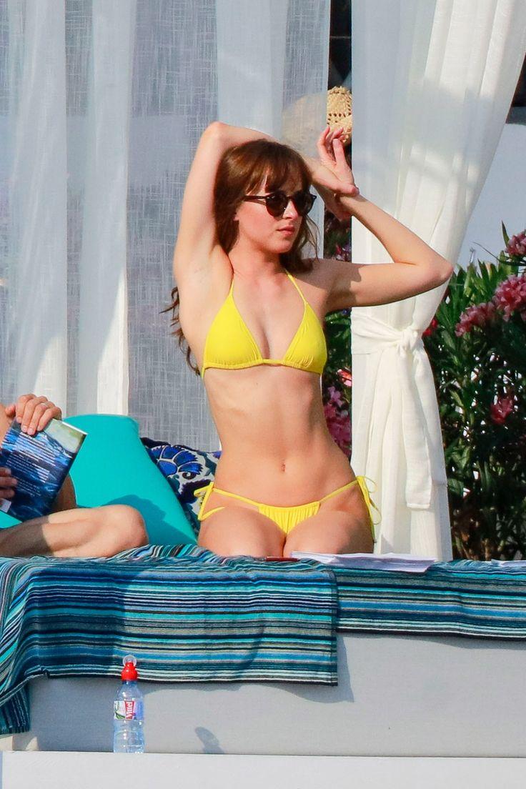 Tiny Yellow Bikini 23