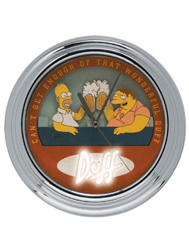 The Simpsons Animated Flashing Wall Clock Barney And Homer Toast @ niftywarehouse.com #NiftyWarehouse #TV #Shows #TheSimpsons #Simpsons