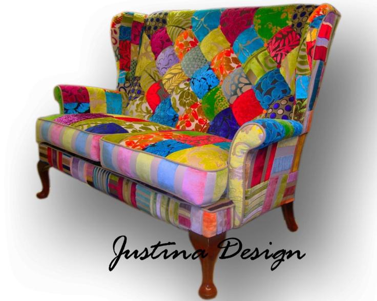 vintage patchwork sofa designers guild fabric made to. Black Bedroom Furniture Sets. Home Design Ideas