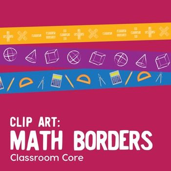 This unique collection of math-patterned border clip art features: 30 original borders, including black/white  Pattern themes include basic math operations, geometric shapes, and common math tools Large 300 dpi files for clear, high-res printing Sized at 8.5 x 11, but may be resized PNG files with transparent backgroundsWeve created this set for educational and personal use.