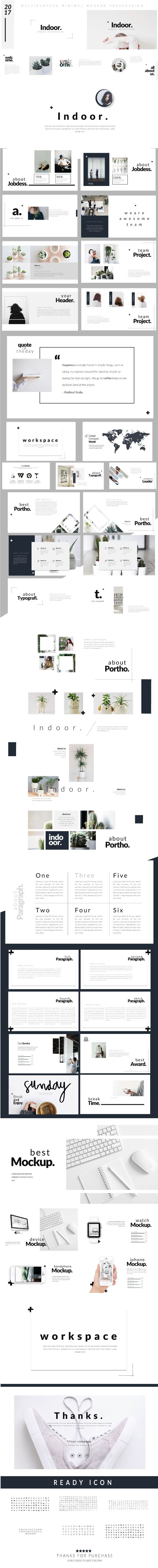 Best Minimal Powerpoint Template Images On