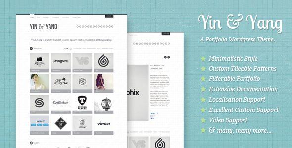 Yin & Yang: Clear and Slick WP Portfolio Theme