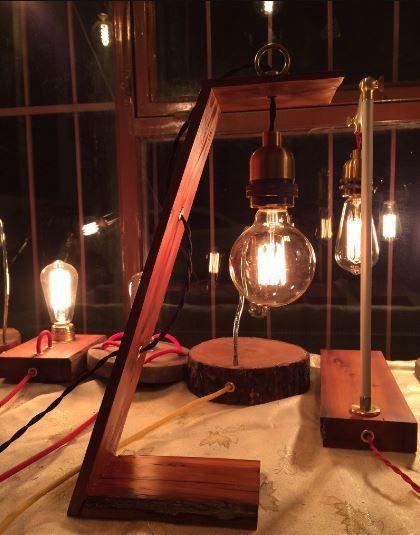 simple yet elegant lamp with an antique replica bulb - Antique Light Fixtures