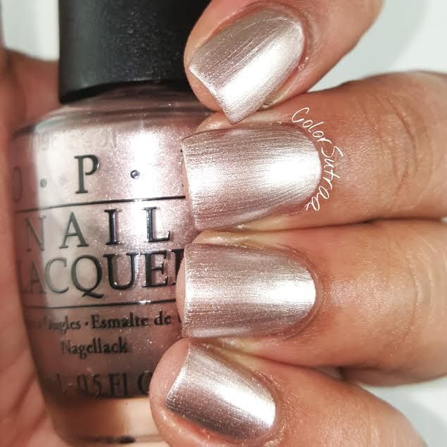 opi Press * for Silver is a beautiful rose-gold metallic polish