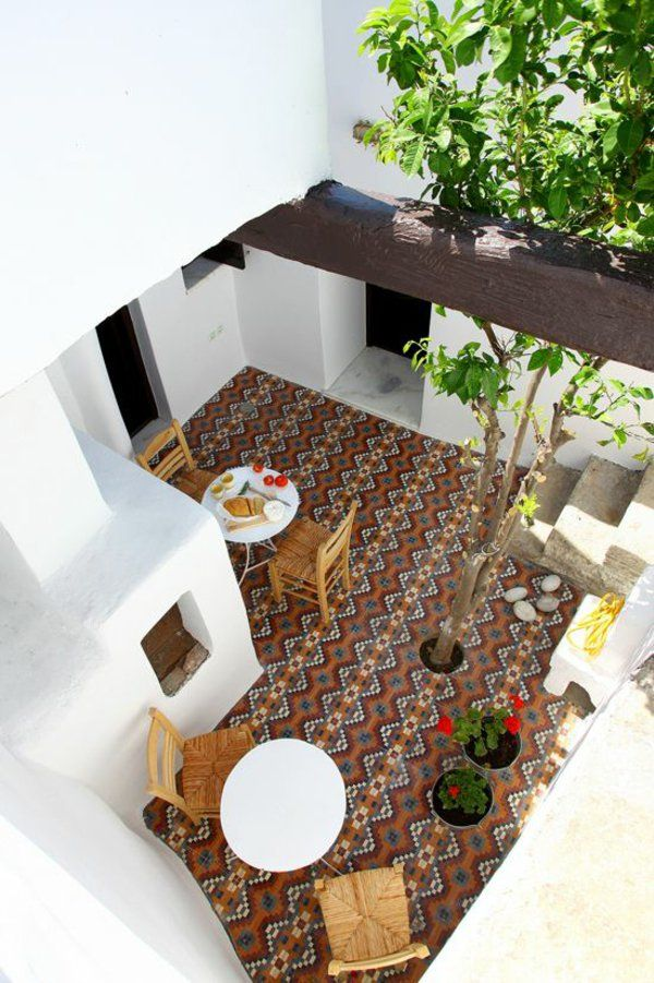 icf home designs%0A a lovely courtyard in greece tile