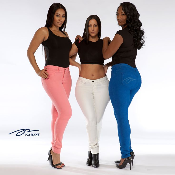 Color Your Curves in PZI Jeans.