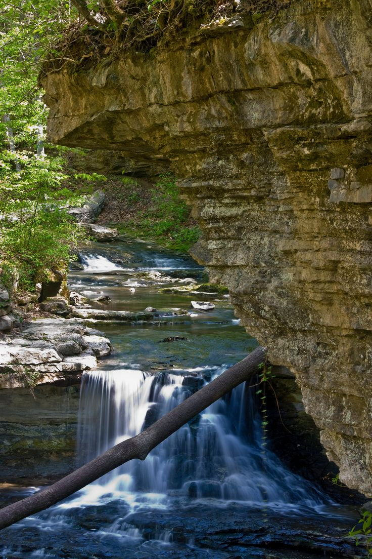 Waterfall at McCormick's Creek State Park in Indiana.