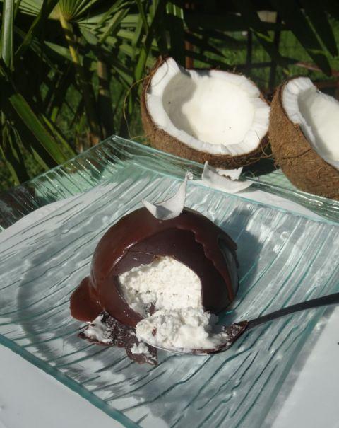 Recette Paléo : Mystère saveur Bounty chocolat coco glacé