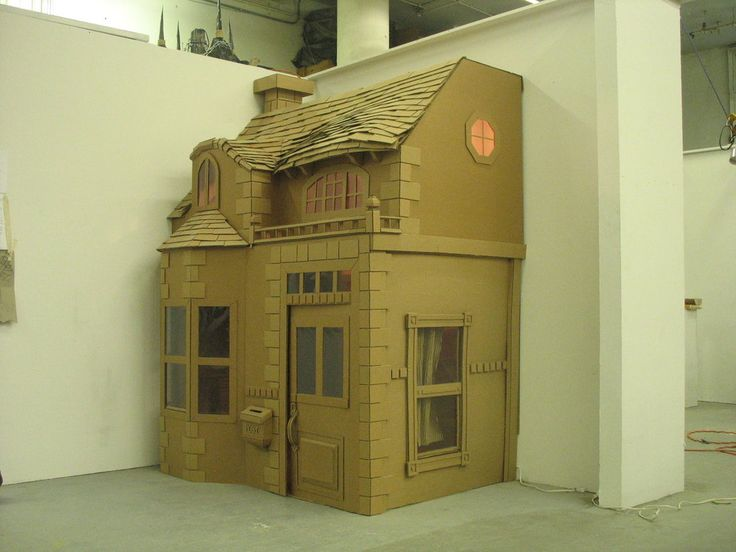 25 Best Ideas About Cardboard Box Houses On Pinterest