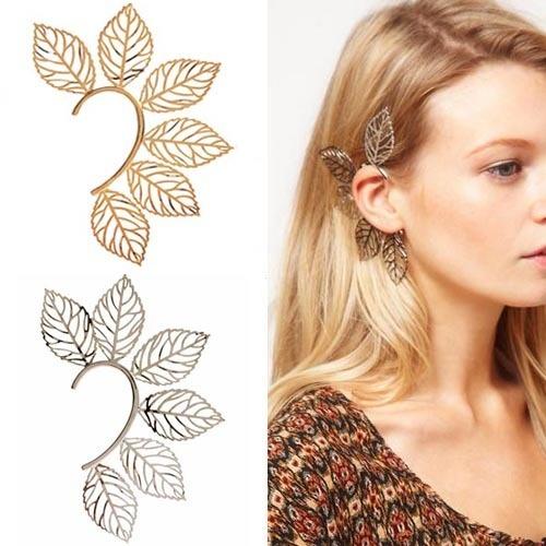 New Modern Punk Fashion Hollow 6LEAF Design Cartilage Ear Cuff Warp Clip Earring | eBay