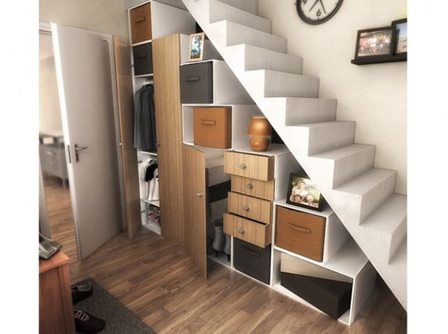 14 best images about maison rangement on pinterest crafts stairs and space saving. Black Bedroom Furniture Sets. Home Design Ideas