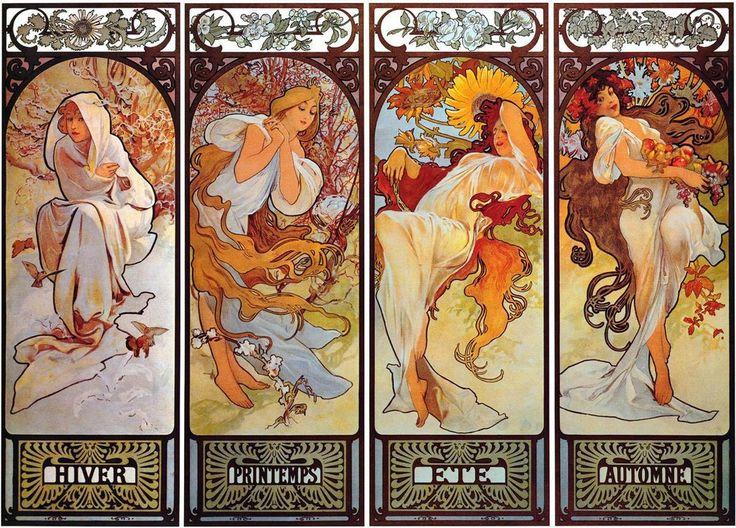 Las Cuatro Estaciones· Alphonse Mucha