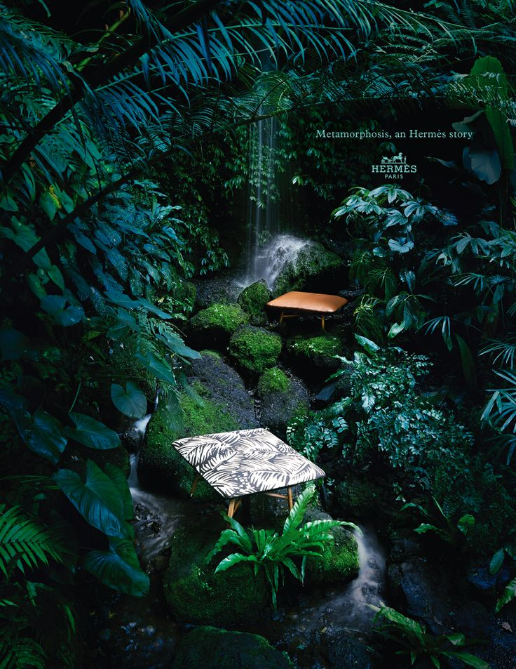 Metamorphosis, an Hermès story. Les Nécessaires d'Hermès – Occasional low stools in Essentiel bullcalf and canvas. Hermès 2014 spring-summer campaign. #hermes