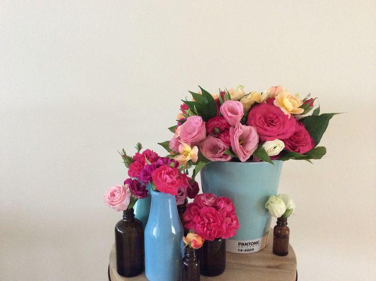 Leftover event flowers to brighten the studio