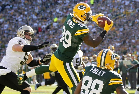 Receiver James Jones was on fire in yesterday's #Packers win over the Saints!