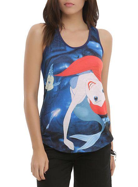 Hot Topic Disney The Little Mermaid Ariel Grotto Swim Girls Tank Top // $24.50 [230414]